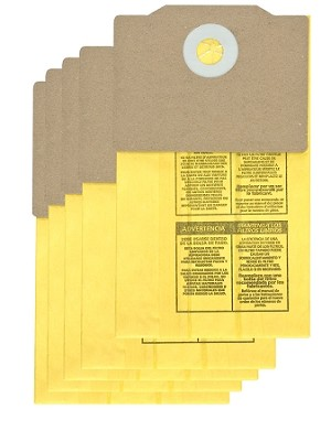 Shop Vac Back Pack Collection Filter Bags 9191710 - 5 Pack