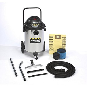 Shop-Vac Right Stuff Stainless Steel 15 Gallon Wet/Dry Vacuum - 6.5 Peak HP